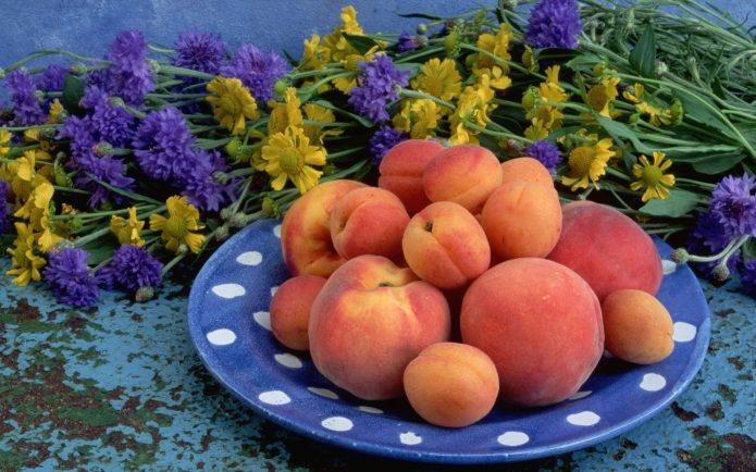 Персики разные