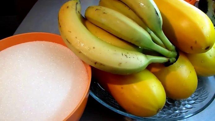 Кабачки, бананы и сахар