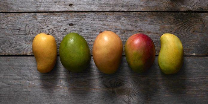 Разные сорта манго