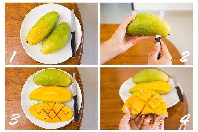 Алгоритм нарезки манго «ёжиком»