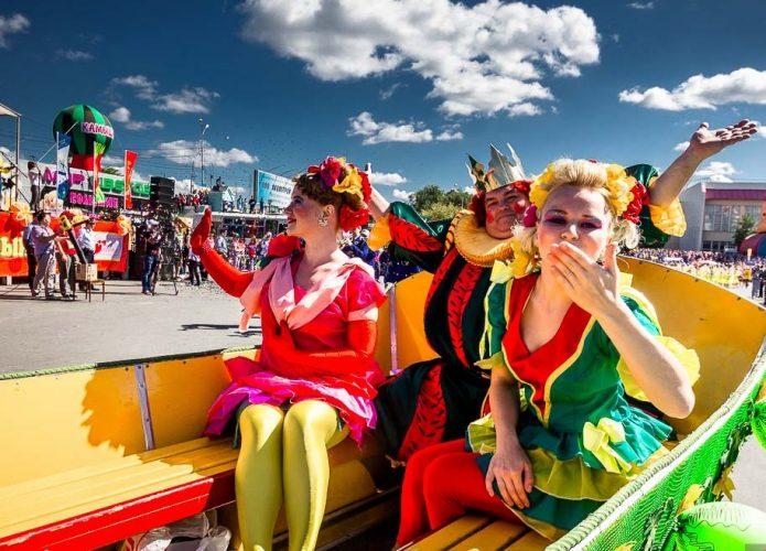 Главные участники Камышенского фестиваля арбузов