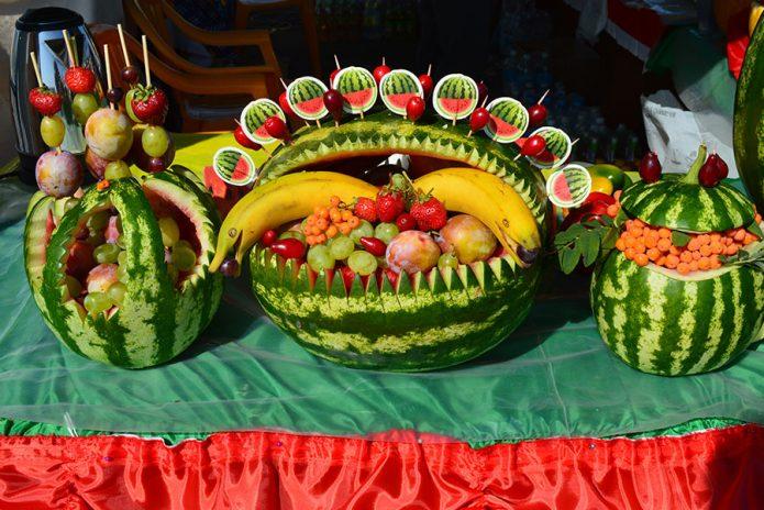 Тематическая выставка на День арбуза в Астрахани