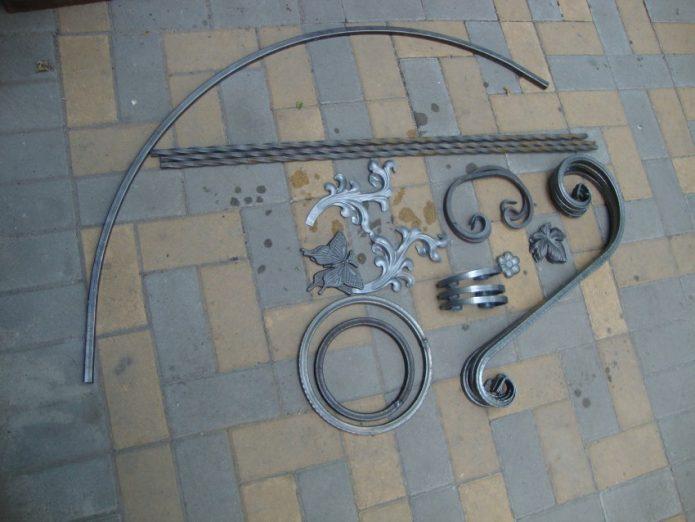 металлический декор для мангала