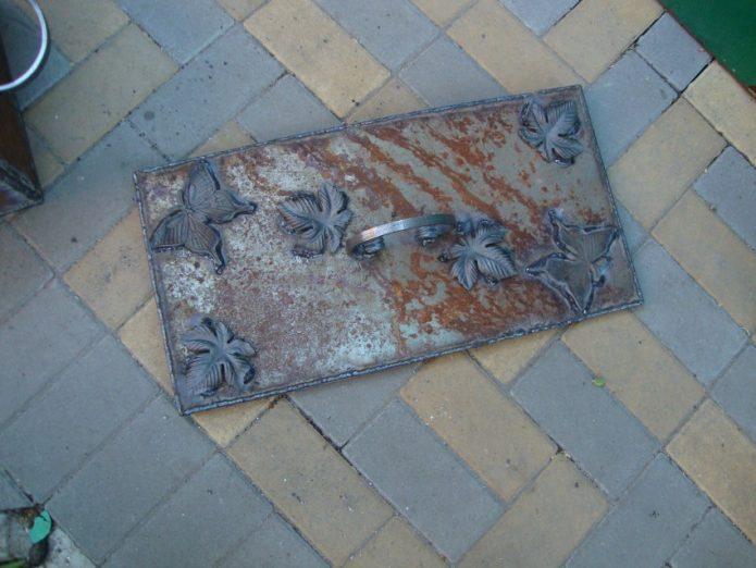 декоративная крышка на мангал