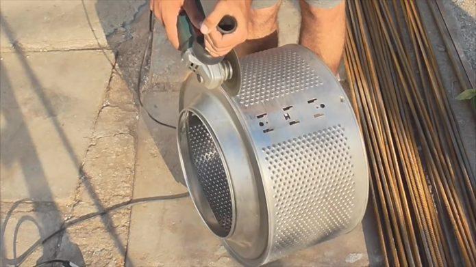 резка барабана стиральной машины