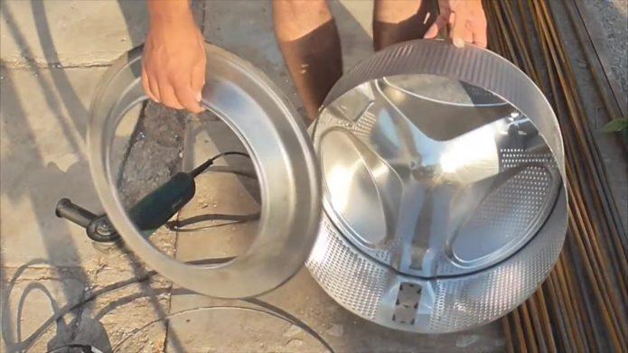 изготовление мангала из барабана стиральной машины