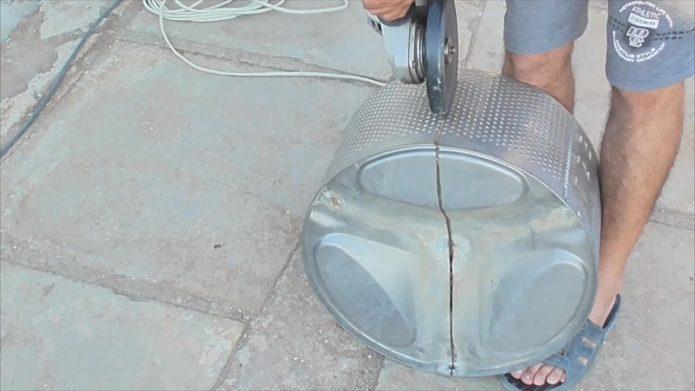 изготовление мангала из барабана стиральной машины 2