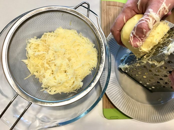 Тёртый картофель