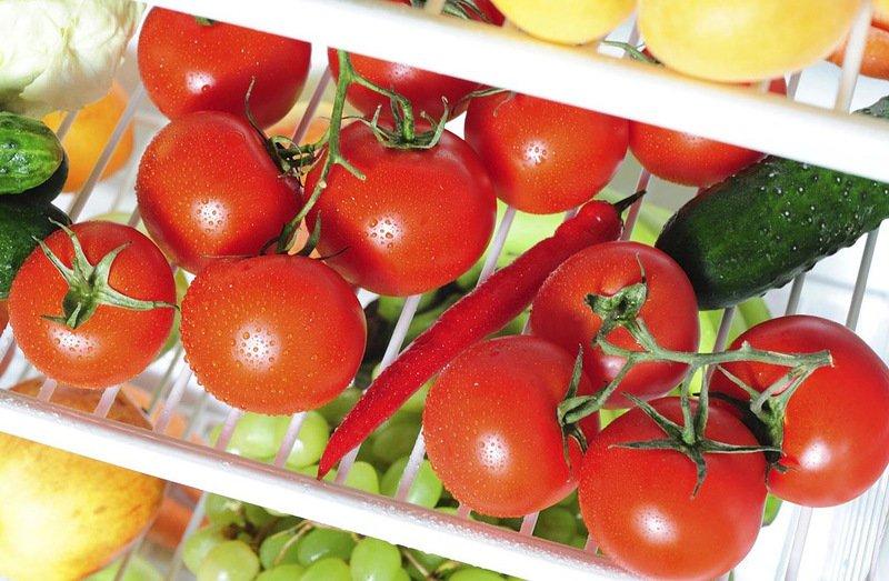 При какой температуре можно хранить помидоры