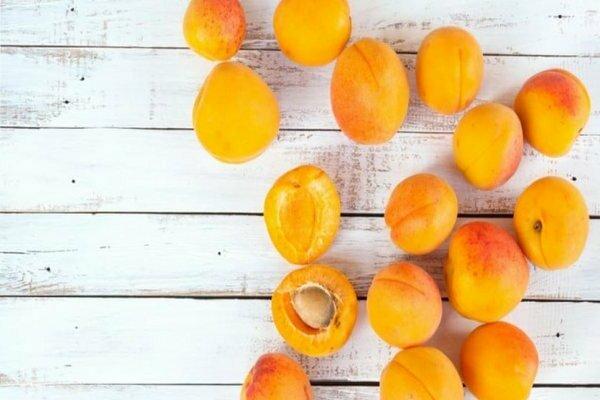 Плоды абрикоса Лель на столе