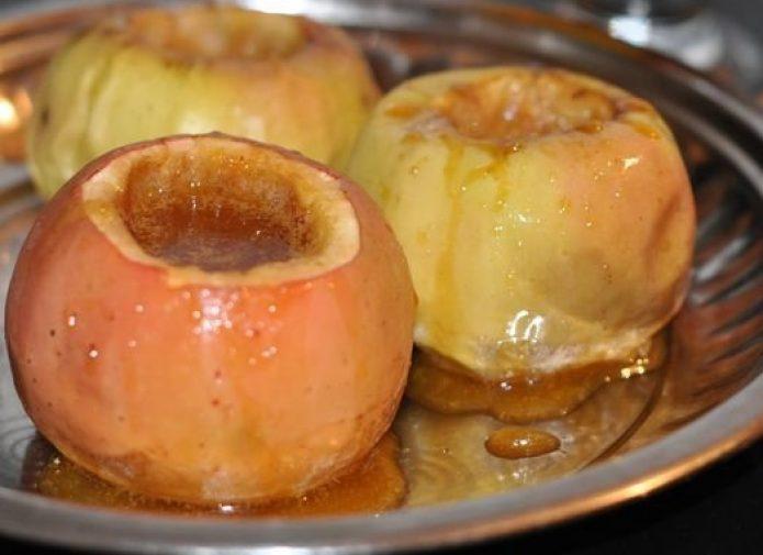Запечённые яблоки с мёдом