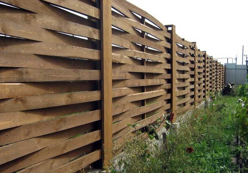 Коричневый забор
