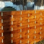 Невысокий забор-плетёнка