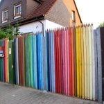 Разноцветный забор