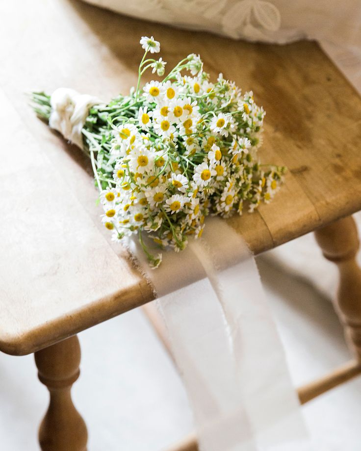 Цветы, свадебный букет ромашек спб