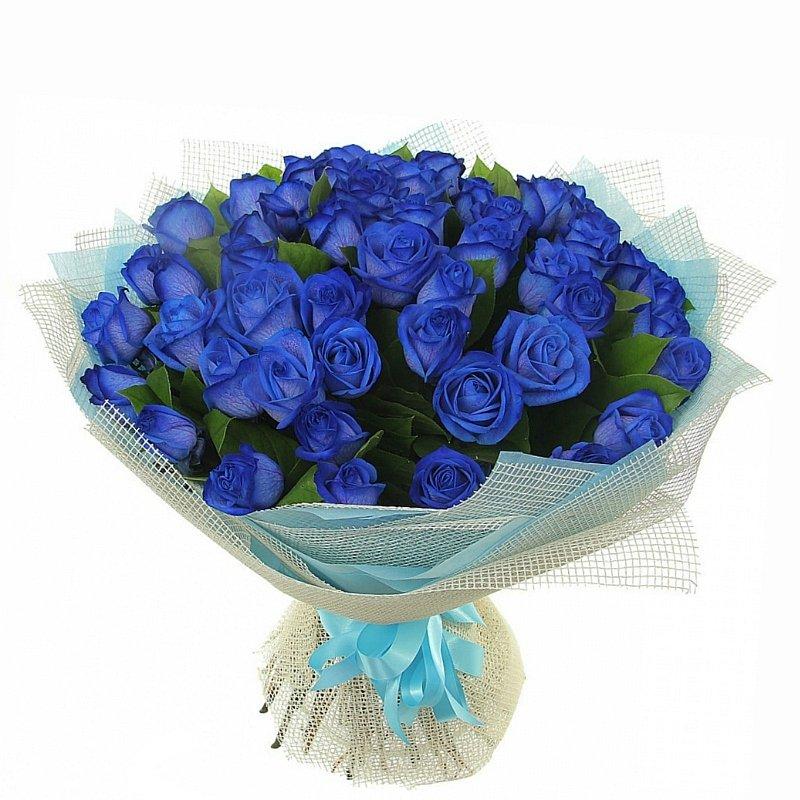 Анимация, картинки с днем рождения с синими розами
