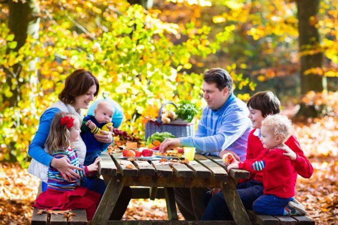 Семейный обед на даче