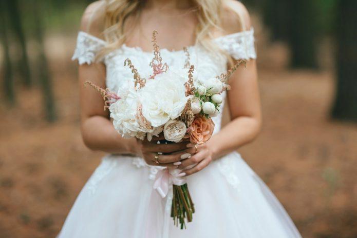 рустикальный букет невесты