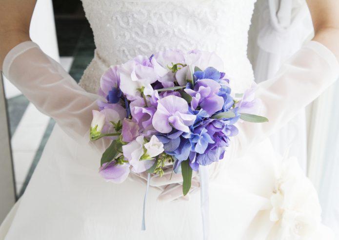 букетик невесты в лиловых тонах