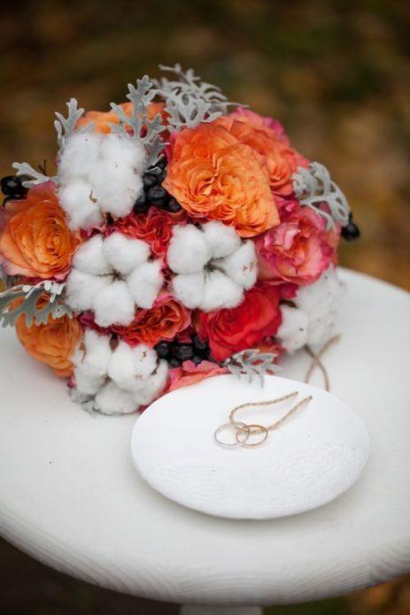 Букет невесты с хлопчатником