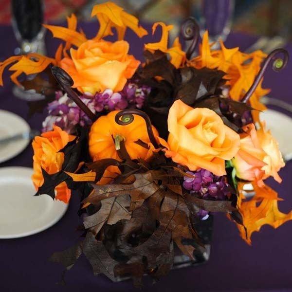 Букет для свадьбы в стиле «Хэллоуин»