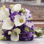 Букет невесты из калл с ирисами