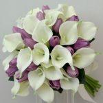 Букет невесты из калл с тюльпанами