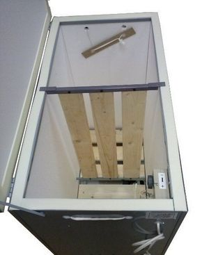 Решётчатая перегородка в коробе