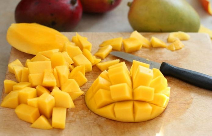 Нарезанное манго