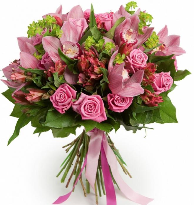 Сочетания цветов с розовыми розами