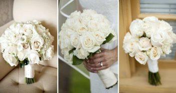 Белый букет невесты: фото и идеи композиций от классических до модных