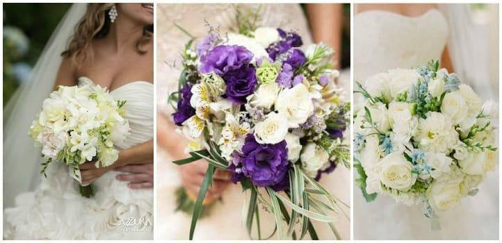 Свадебный букет из эустомы — варианты композиций, фото