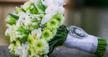 Свадебный букет из хризантем: идеи композиций, фото