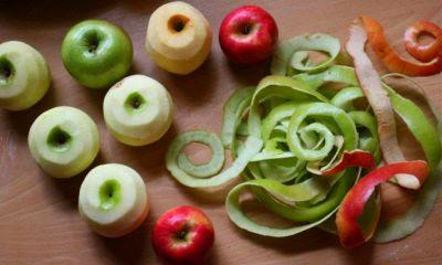 Яблоки, очищенные от кожуры